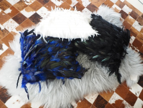 Feather your nest with these gorgeous Ostrich Feather Cushion Covers