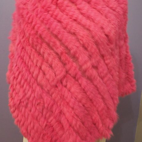 A Gorgeous Hot Pink Poncho - A Vibrant and Warm Colour that brings a bit of Fashion Fun