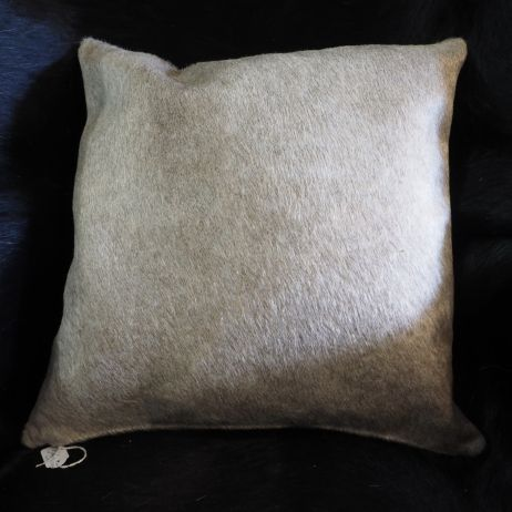 A Beautiful Champagne Toned Premium Cowhide Cushion Cover