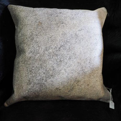 A Beautiful Soft Steel Grey Cowhide Cushion Cover