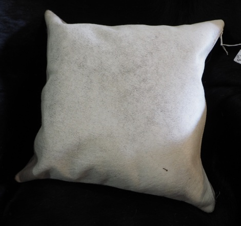 Gorgeous Soft Steel Grey Cowhide Cushion Cover