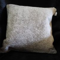 A Beautiful Branded Soft Steel Grey Cowhide Cushion Cover