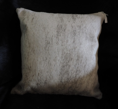 gy:A lovely soft steel grey cowhide cushion cover