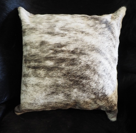 EX/6:A Beautiful Grey Wave over a light base - A wonderful cowhide cushion cover