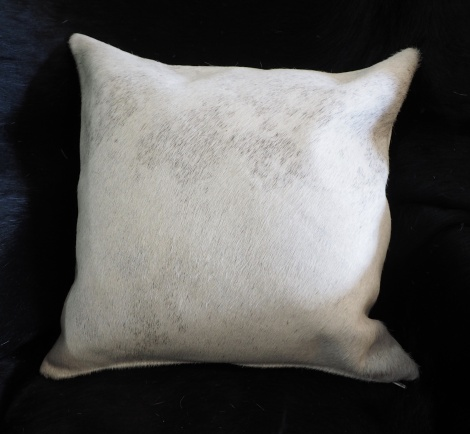 EX/8:A Beautiful Pale Base touched with Grey - A Gorgeous Cowhide Cushion Cover