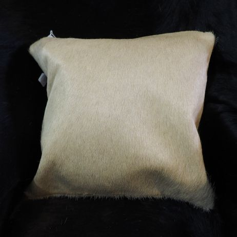 A Lovely Light Camel Toned Cowhide Cushion Cover -