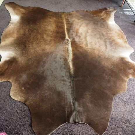 AS/19: - Gorgeous Smokey Tones - a beautiful winter coat -a gorgeous cowhide rug