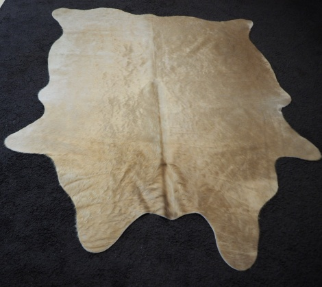 XS?9: A Beautiful Golden Toned Mod Sized Cowhide Rug