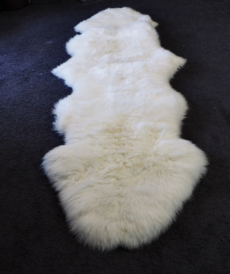 A Beautiful @ Skin Sheepskin Rug - Measuring 1800mm long - perfect for beside the bed & over a chair