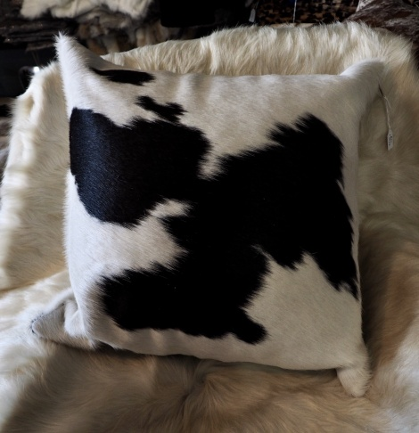 BW/2: A BEAUTIFUL BALANCE - A GORGEOUS 50CM COWHIDE CUSHION