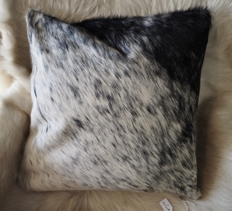 SPN40/6: A Beautiful Softly Peppered 40cm sq Cowhide Cushion