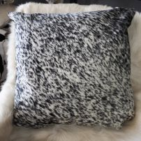 SPN50/7: A Beautiful Speckling - A lovely black and white 50cm Sq Cowhide Cushion