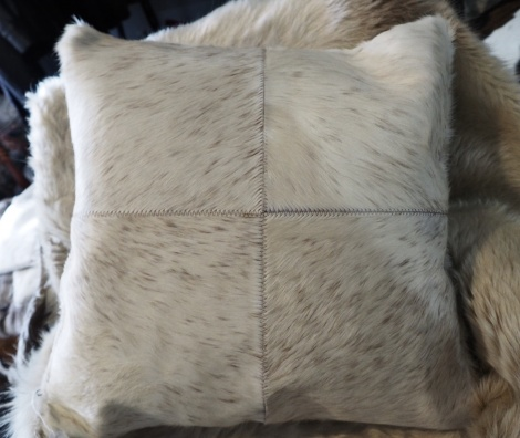 SPBP50/8: A Lovely Soft Brown Speckle - A Beautiful 50cm Square cowhide cushion