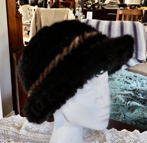 A Classic Style - A Beautiful Knitted Mink Hat - The Ultimate in Winter Warmth