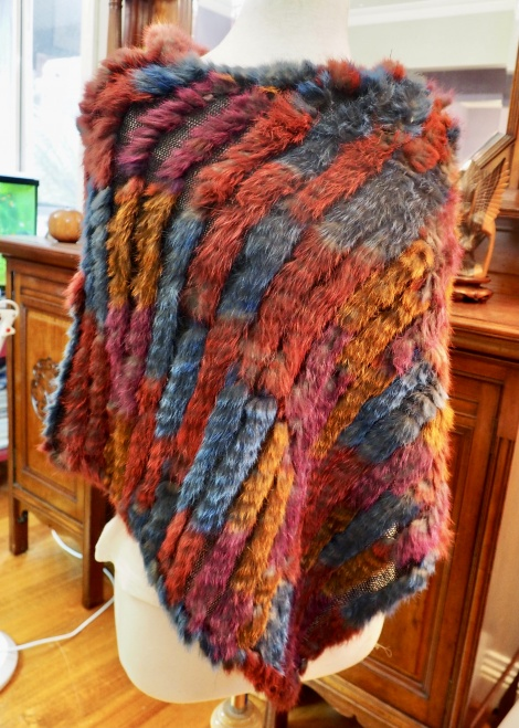 Lovely Warm WInter Tones - A Gorgeous Lightweight Travel Friendly Poncho