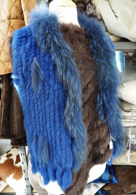 Warm your Winter with this gorgeous Blue Vest - Soft & Warm - SIze XS
