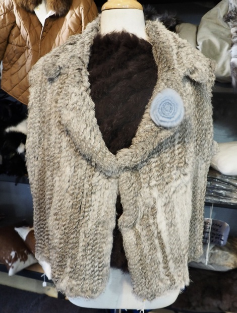 A Lovely Soft Natural Grey Vest - fits a size 16 to 18 - generous sixing