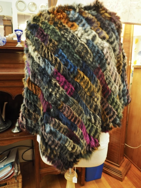 P/15: Bright Flashes of Colour - A Warm and Wonderful Rabbit Fur Poncho