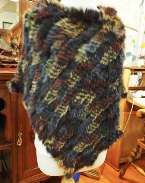 P/23: THE COLOURS OF A STORMY SKY   A LOVELY WINTER PONCHO