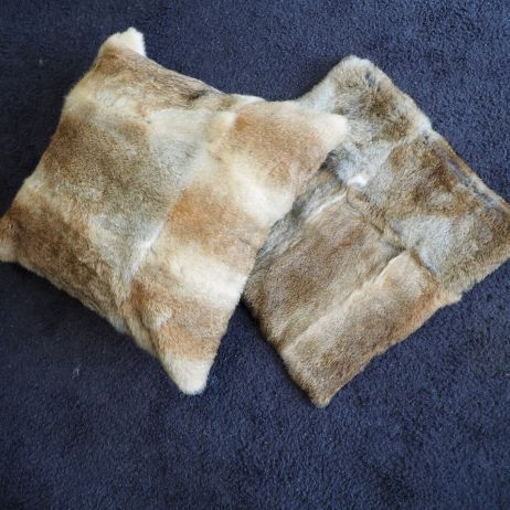 Beautiful Natural Brown 50cm Square lapin Cushion Covers
