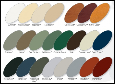COLOUR SELECTION CHART 1.
