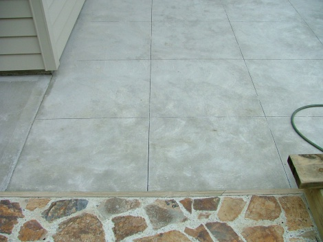 Plain Concrete Cut Into Squares
