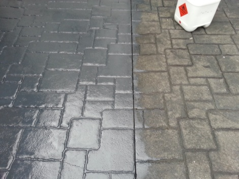 Old Pavers Resealed
