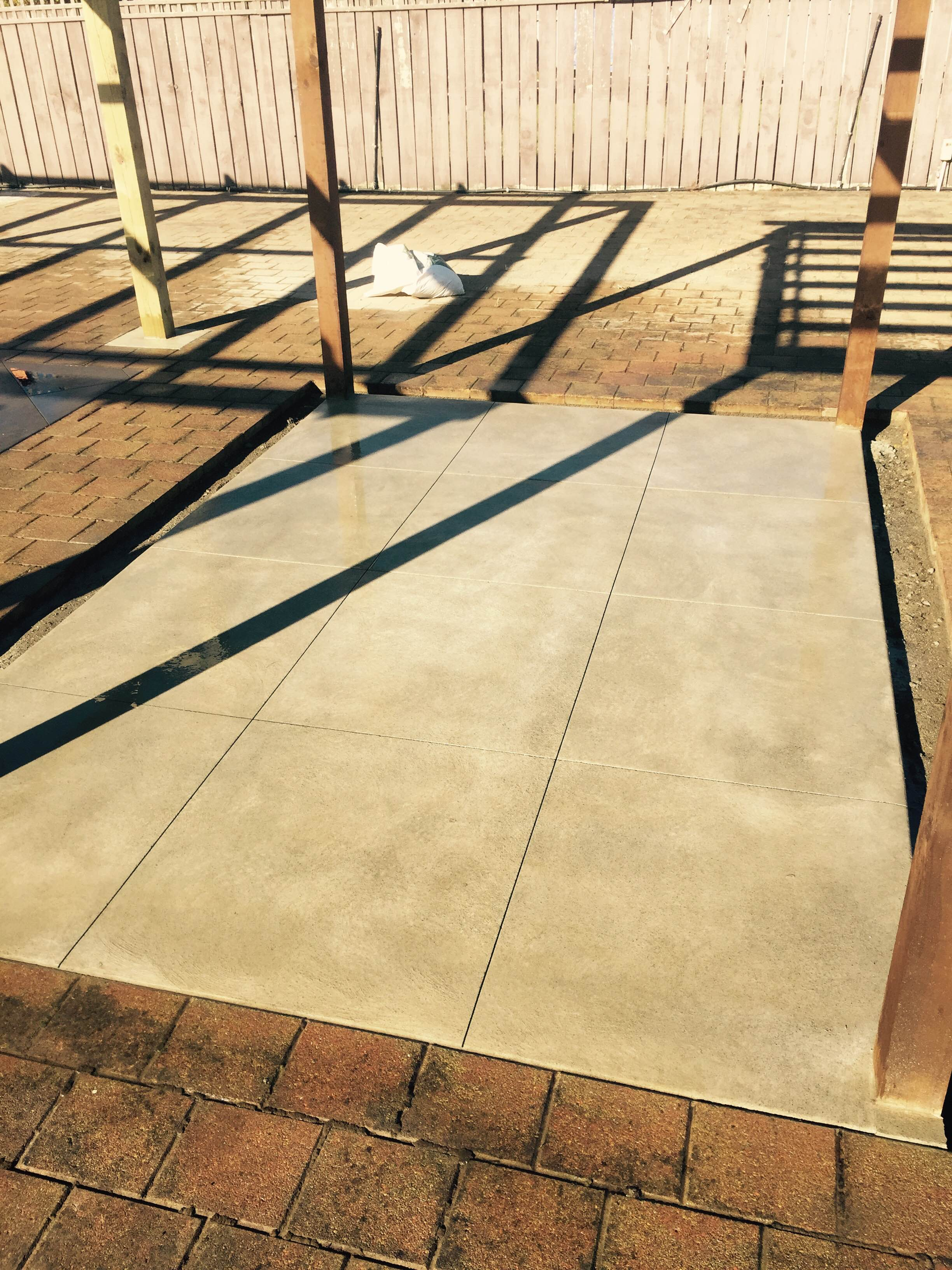 Sponge Finish Concrete Cut Into Squares - California Garden Centre