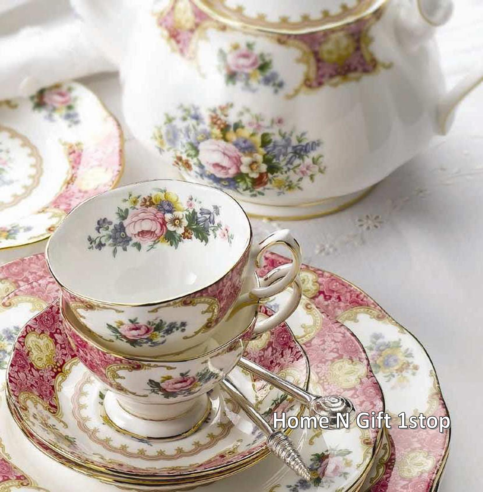 ROYAL ALBERT LADY CARLYLE 20PC DINNER SET RRP$1399(FREE P ...