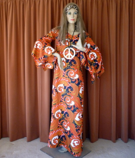 Thru the Ages - Hippie Chick Maxi Dress