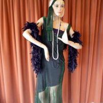 Thru the Ages -1920's 30's  Green Shimmer Flapper