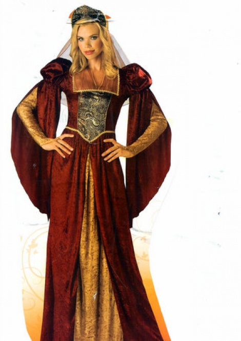 Medieval Princess - Red/Gold