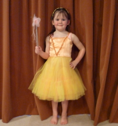 Pretty Little Orange/Yellow Fairy