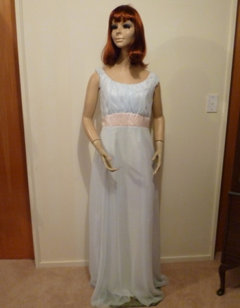 Titanic or 1700's  Light Blue Evening Gown