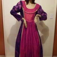Mauve and Red Medieval Maid