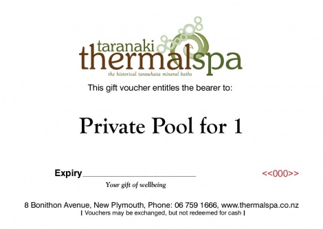 Private pool for 1 Gift Voucher