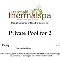 Private pool for 2 Gift Voucher