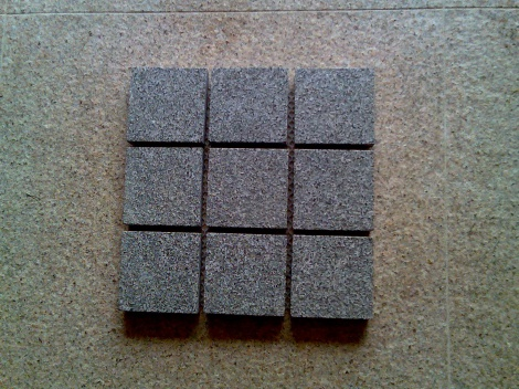 Diamond grey cobble stone