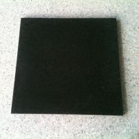 Diamond black polished granite tile