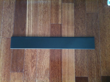 Black polished granite skirting