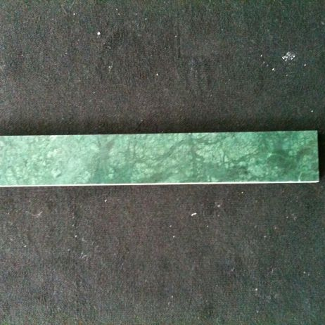 green polished marble skirting