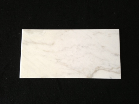 Carrara white marble  610x305x15mm