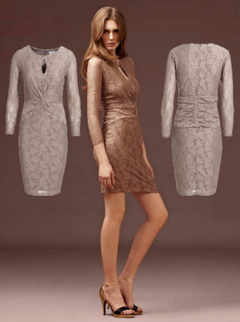 Dusky rose lace dress