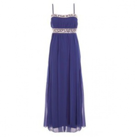 Jewelled bustier silk chiffon gown, strapless or with straps