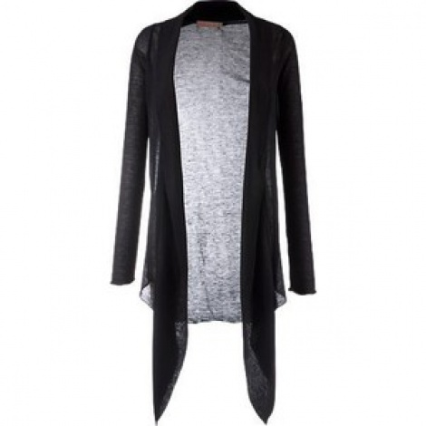 Waterfall floaty sheer wool cardigan