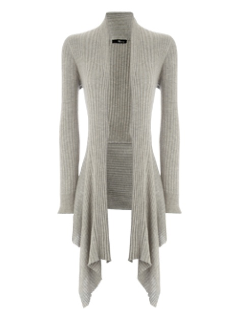 Waterfall ribbed cardigan