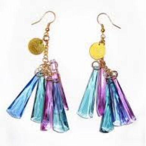 Icicle mega crystal earrings