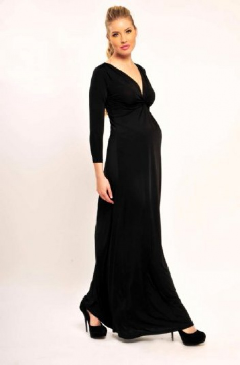 Maternity/nursing twist front gown (sold)