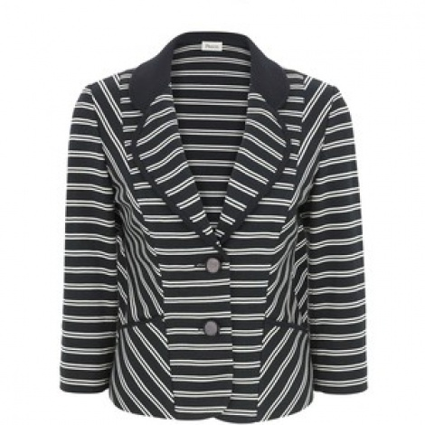 Nautical stripe cardi-blazer