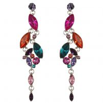 Marquise crystals multi-coloured earrings